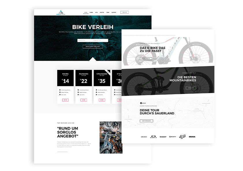 Pro Biker Winterberg DIVE INN Webdesign